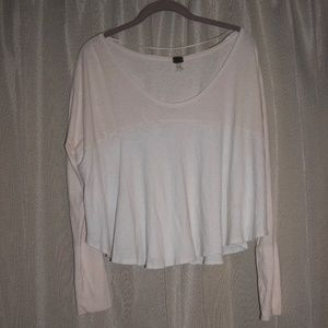 Long sleeve Pink/White Top by South Moon Under